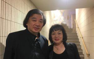 久しぶりの再会を果たした坂さんと山本代表