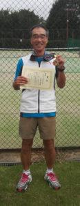 テニスの市民大会シングルスで優勝